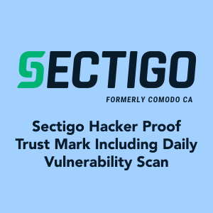 Sectigo Hacker Proof Trust Mark Including Daily Vulnerability Scan